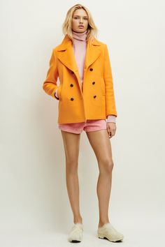 TOMAS MAIER  The fresh new color combo for summer: pale pink and orange.