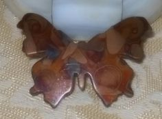 Different Unique Vintage Brooch Butterfly Copper by MyCreations4U, $8.00