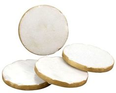 Thirstystone Gold Edge Round Marble Coasters This is an affiliate link, please click onto link to view more.