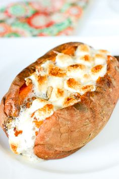 Baked Sweet Potatoes with Marshmallow Pecan Topping