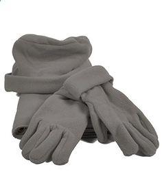 Solid Color Polyester 3 Piece Fleece Hat, Scarf & Glove Women's Winter Set (Grey). More description on the website.