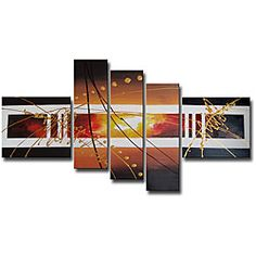 @Overstock - Artist: Unknown  Title: Hand-painted Abstract 104  Product type: Hand-painted gallery wrapped canvas arthttp://www.overstock.com/Home-Garden/Hand-painted-Abstract-104-Gallery-wrapped-Canvas-Art-Set/5105721/product.html?CID=214117 $93.99