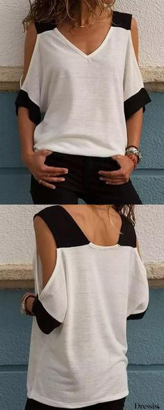 Sewing blouse pattern shirt refashion ideas for 2019 Diy Fashion, Fashion Outfits, Sewing Blouses, Shirt Refashion, Basic Tops, Blouse Outfit, Look Chic, Summer Shirts, Blouse Styles