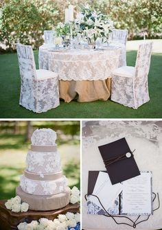beautiful lace wedding details it looks gorgeous on the cake and the leather and lace wedding invitations are to die for.
