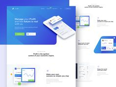 Exploring Landingpage for Profit Manager.  I'm always excited about new think in the world, so if you have good project. Hit me up !  Available Work !  Follow us on Instagram  |  Facebook