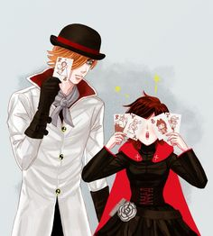 Roman and Ruby<<<they hav eachothers cards