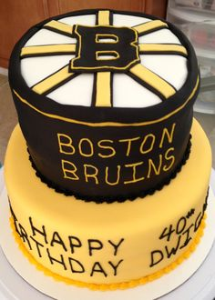 Boston bruins fan cake