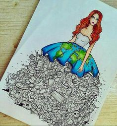 Amazing art drawings messages Ideas for 2019 Earth Drawings, Cool Art Drawings, Pencil Art Drawings, Art Drawings Sketches, Disney Drawings, Sketch Art, Planet Drawing, Social Media Art, Fashion Design Drawings