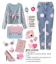 """""""Precious"""" by juliehalloran ❤ liked on Polyvore featuring Topshop, Chicnova Fashion, Pinup Couture, La Cartella, Swatch, Markus Lupfer, Sephora Collection, Essie, women's clothing and women's fashion"""