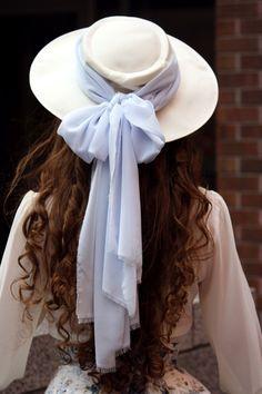 Elegant hat with chiffon bow - Fanny Rosie on Tumblr