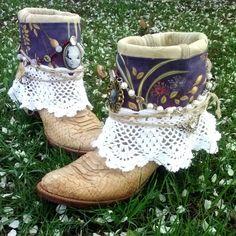 Upcycled Vintage Cowboy Boho Boots- Manifest Destiny on Etsy, $160.00