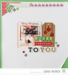 Happy Holidays: 2 weihnachtliche Layouts