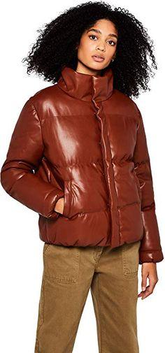 c0b7d17d82c2 FIND Pu Puffa Jacket Giacca Donna  Amazon.it  Abbigliamento