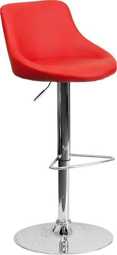 Best Of Red Hydraulic Bar Stools
