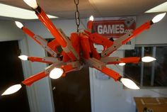 Chandelier Made from Nintendo Zappers | Mental Floss