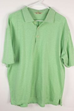 Peter Millar Mens Sz L Light Heather Green Cotton Golf Short Sleeve Polo Shirt #PeterMillar #PoloRugby