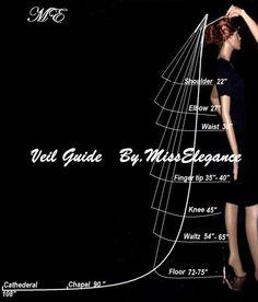 Bridal Veil 1 tier Wedding veil SHIMMERY by Misselegancebrides