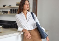 """The Day Tote   Everlane    """"I'm constantly working on the fly. I can eat this bag up a bit—and it just makes the leather look better.""""—Ally Walsh, founder of Canyon Coffee"""