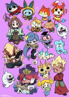 I draw for character merchandise Anime Fnaf, Anime Art, Yo Kai Watch 2, Chibi, Western Anime, Kai Arts, Gamers Anime, Pop Art Wallpaper, Anime Stickers
