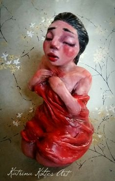 "The ""Soul whisperer"" -paperclay and acrylic by Katrina koltes"