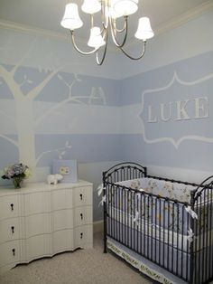 Baby Blue Nursery - kids - dallas - Erin Sander