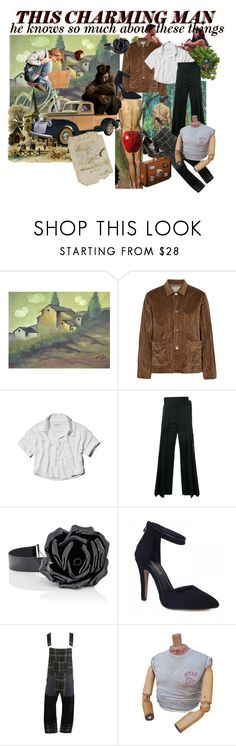 """this charming man"" by unholyveins on Polyvore featuring ADAM, Our Legacy, Abercrombie & Fitch, Yves Saint Laurent, Junya Watanabe, Dr. Martens, men's fashion and menswear"