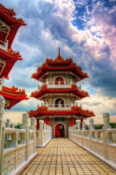 Pagoda… Chinese Gardens in Singapore by Dittekarina Bali, Chinese Architecture, Amazing Architecture, Garden Architecture, Architecture Office, Futuristic Architecture, Places To Travel, Places To See, Places Around The World