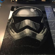 Stormtrooper - Star Wars perler bead art by Daniel Gustafsson
