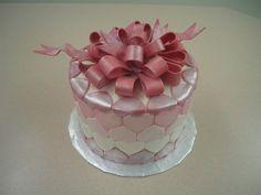 metallic hearts valentine cake
