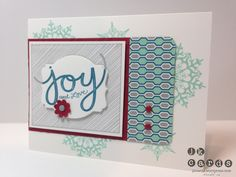 Stampin' Up!, Freshly Made Sketches 103, Joy and Love SIngle, Snowflake Soiree, Winter Frost DSP Stack, Deco Labels Framelits, Boho Blossom Punch, 3/16 Corner Rounder, Neutrals Candy Dots, Regals Candy Dots