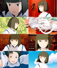 DNM Studio Ghibli Gif/Screencap Challenge: 5 Male Characters (in no particular order): 2/5: Haku (Spirited Away).
