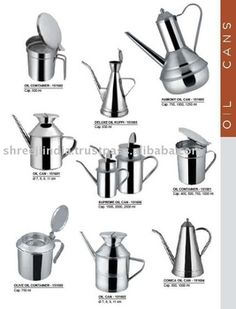 S S Oil Container / Oil Pot / Oil Can Container, Packaging, Oil, Canning, Green, Wrapping, Home Canning, Conservation, Butter