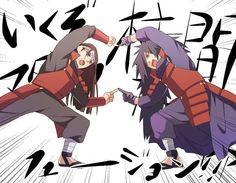 Madara Uchiha and Hashirama Senju Boruto, Madara Uchiha, Kakashi, Anime Naruto, Naruto Shippuden, Naruto Funny, Naruto Art, Naruto And Sasuke, Manga Anime