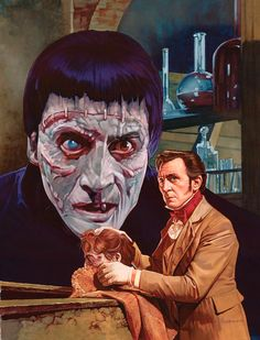 The Curse of Frankenstein painting for Little Shoppe of Horrors by Jeff Preston