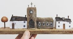 Chapel Street. Kirsty Elson, Crafts To Make, Arts And Crafts, Driftwood Art, Recycled Materials, Multimedia, Recycling, Street, Building
