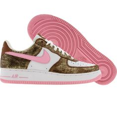 Nike Womens Nike Air Force 1 Low Premium (hazelnut / perfect pink / white) 309439-262 - $119.99