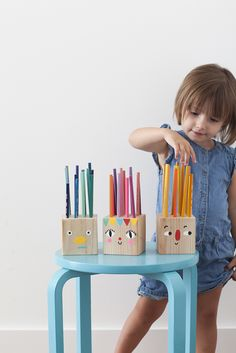 Funny Face Pencil Holder heads and A Back-to-School Round Up