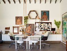 Wishing we could all work at Sally Breer's very cool office!