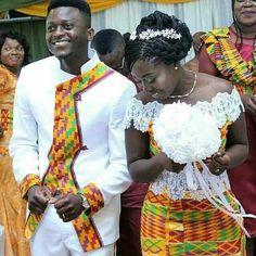 Mariage pagne African Wedding Attire, African Attire, African Wear, African Dress, African Men Fashion, African Fashion Dresses, African Women, African Traditional Wedding, Traditional Wedding Dresses