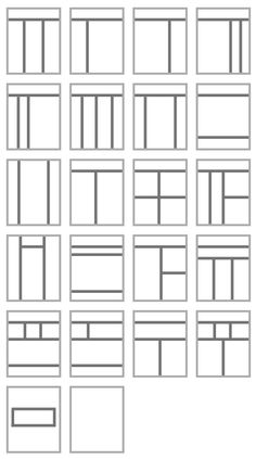 Bilderesultat for le corbusier windows Graphic Design Layouts, Layout Design, Grid Architecture, Cafe Posters, Studio Layout, Comic Layout, Instagram Grid, Geometry Pattern, Grid Layouts