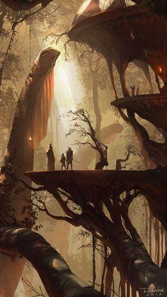 """""""Walkers"""" by Donovan Valdes (larger version)"""