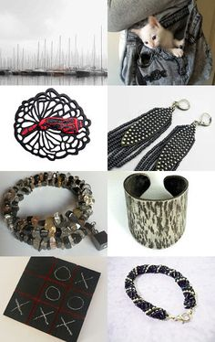 A Touch of Black by Nathalie on Etsy--Pinned with TreasuryPin.com