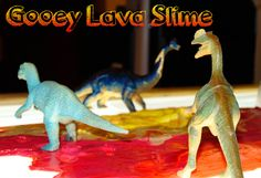 Lava Sensory Slime Recipe without Liquid Starch for Preschool Dinosaur or Science theme Early Learning, Kids Learning, Preschool Dinosaur, After School Care, Pre Kindergarten, Slime Recipe, School Events, Early Childhood Education, Sensory Activities