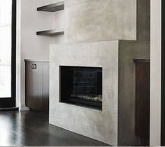 concrete fireplace. Contact us about your project
