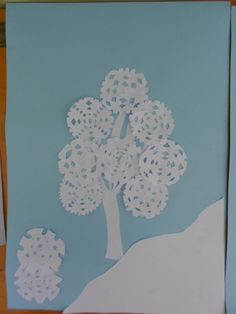 snowflake tree Kindergarten, Preschool Crafts, Scrapbooks, Techno, Advent, Art For Kids, Snowflakes, Holiday, Christmas