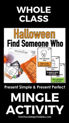 Need a great Halloween themed activity to practice Present Tense speaking with your students?