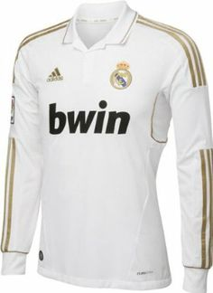 Real Madrid adidas Soccer Home Replica Long Sleeve Jersey by adidas. $89.99. This item ships same day if you order by 4pm Central (M-F). Are you a huge Real Madrid fan? Check out this Real Madrid adidas Soccer Home Replica Long Sleeve Jersey. This handsome jersey from adidas Soccer features bold screen print graphics and vibrant team colors. This comfy piece of team merchandise is sure to make you feel like part of the team as you root for them on game day. Soccer Lon...