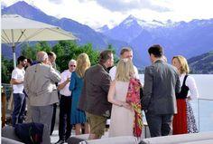 Get together bei der Eröffnungsfeier - #Seehotel Bellevue