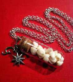 YOUR TEETH Custom Order - Your Supplied Baby or Adult Teeth Made into A Glass Vial Pendant Necklace Keepsake