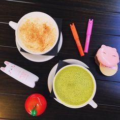 It's half way to the weekend! Lattes and super cute TonyMoly products for a mid-week reward!   #TonyMoly #kbeauty #asianbeauty #bblogger #koreanskincare #asianskincare #koreancosmetics #petitbunnyglossbar #applehandcream #catswinkclearpact #sleekmist #latte #hellocos